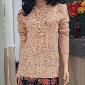 Sweaters - Stunning Cold Shoulder Knitted Sweater